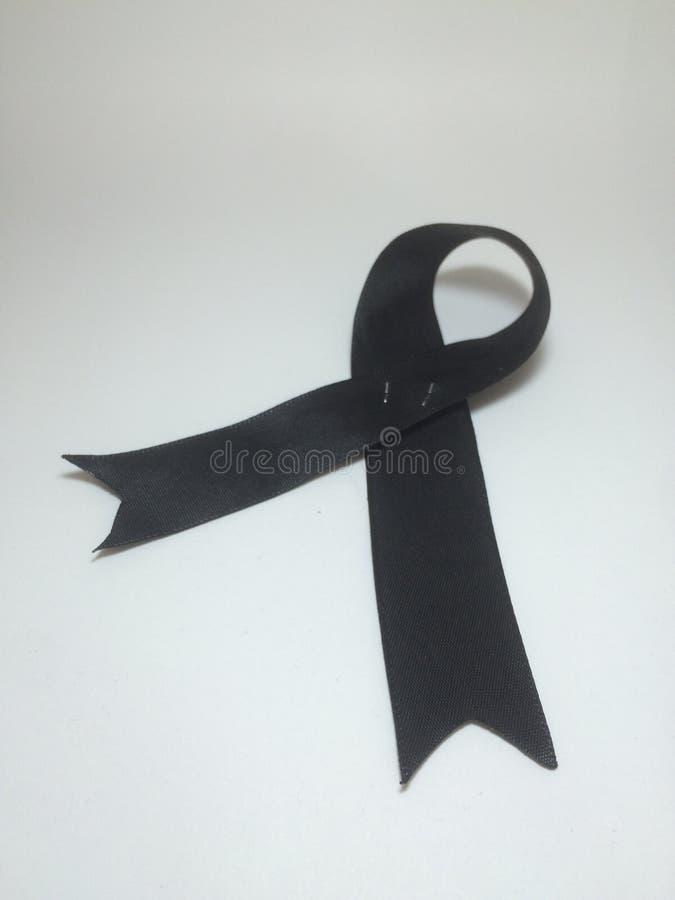 黑色丝带 库存图片