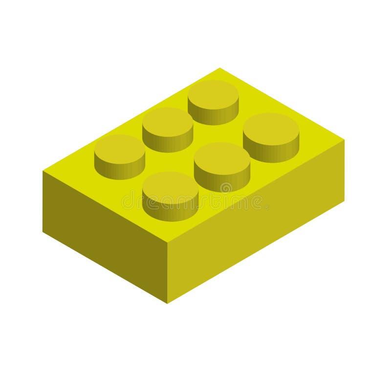 黄色乐高 库存例证