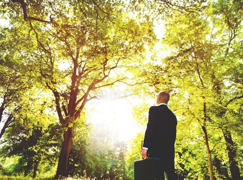 绿色企业启发保护自然概念 库存图片