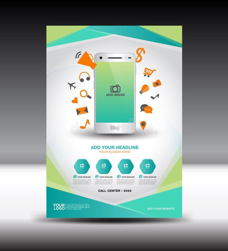 Download 绿色企业小册子飞行物设计版面杂志广告,流动 向量例证. 插画 包括有 手册, 背包, 活动, 小册子, 图标 - 72370801