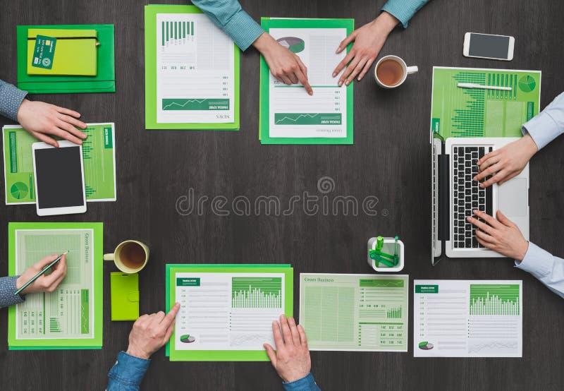 绿色企业队 免版税库存图片
