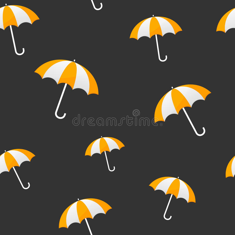 黄色伞无缝的背景 向量例证