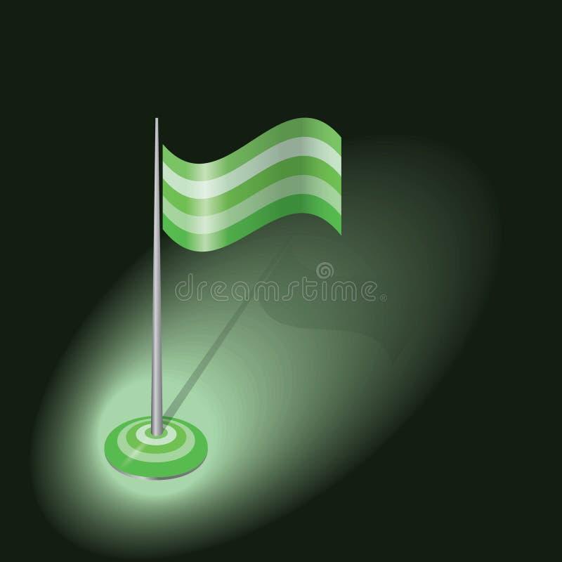 绿色传染媒介旗子 皇族释放例证