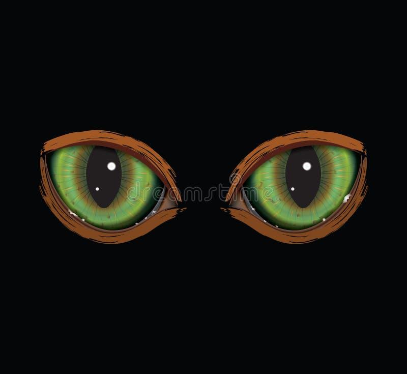 绿色传染媒介猫眼 免版税库存照片