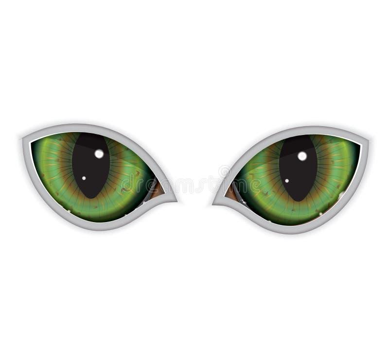 绿色传染媒介猫眼 库存照片