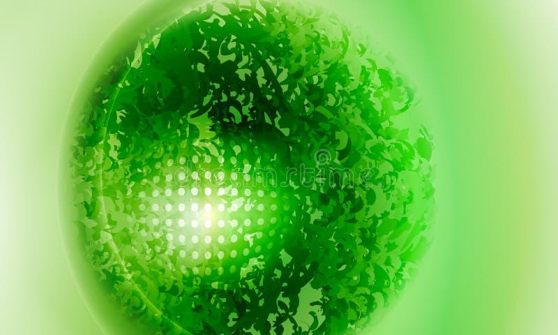 绿色传染媒介背景 向量例证