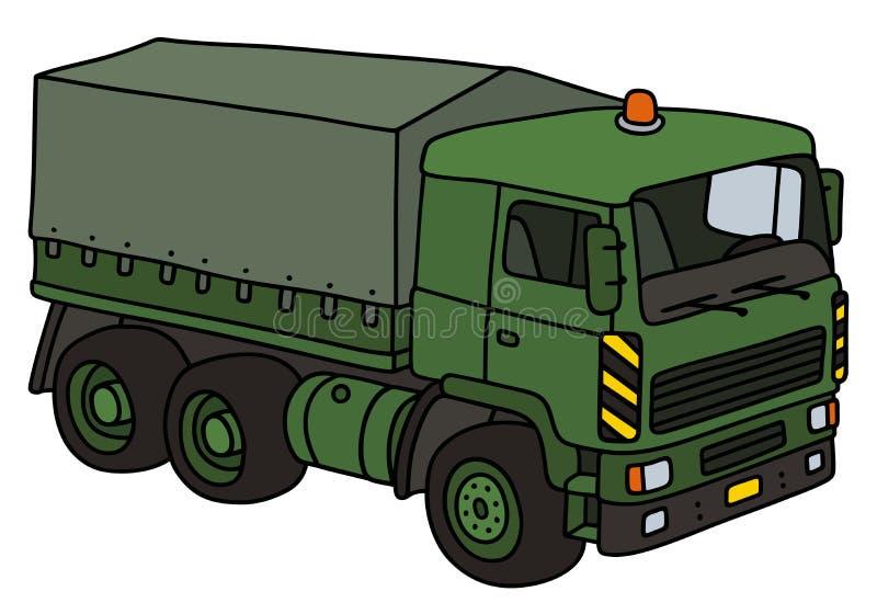 绿色军用卡车 皇族释放例证