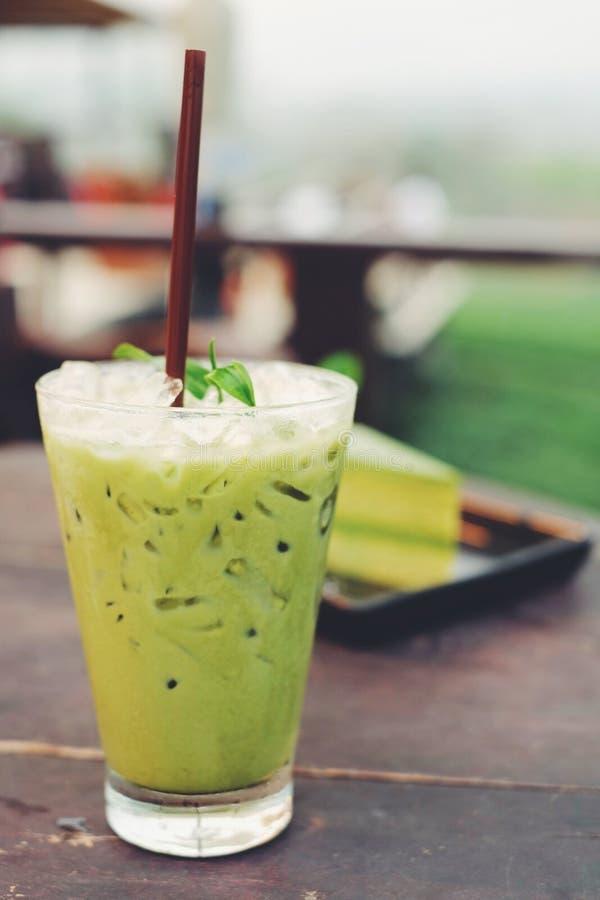 绿色冰茶 库存图片