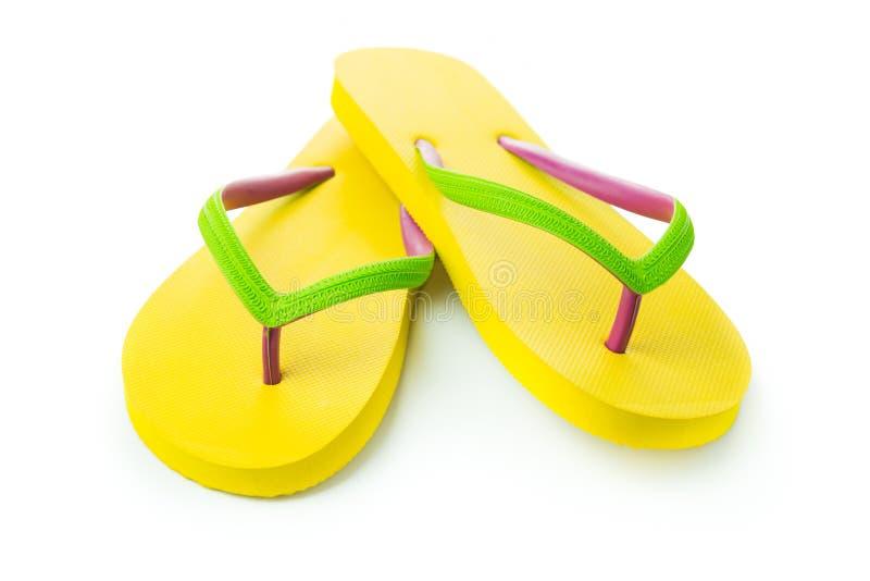黄色凉鞋 免版税库存照片