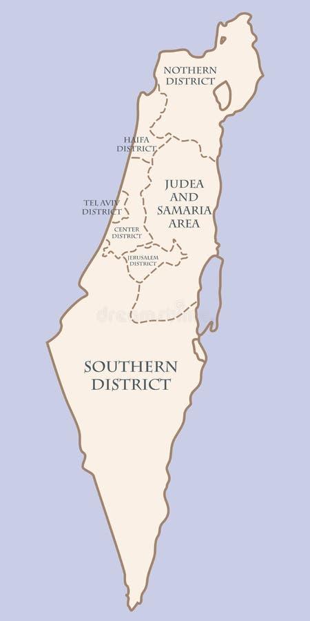 以色列与区的等高线图 皇族释放例证