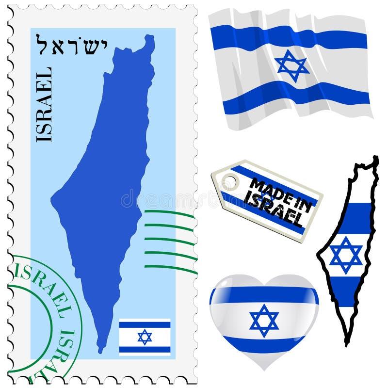 以色列的全国颜色 库存例证