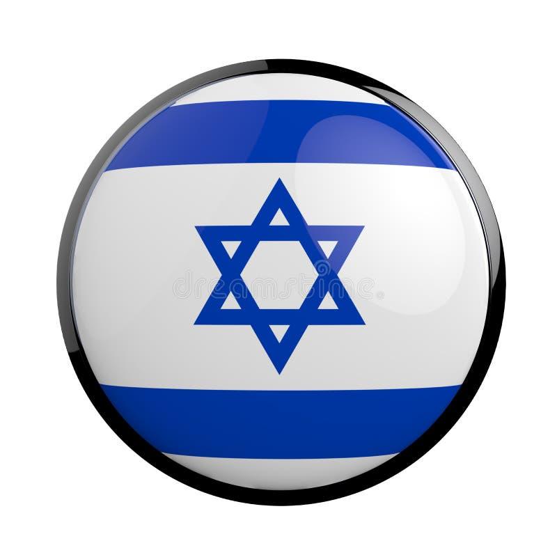 以色列的圆的象旗子 皇族释放例证