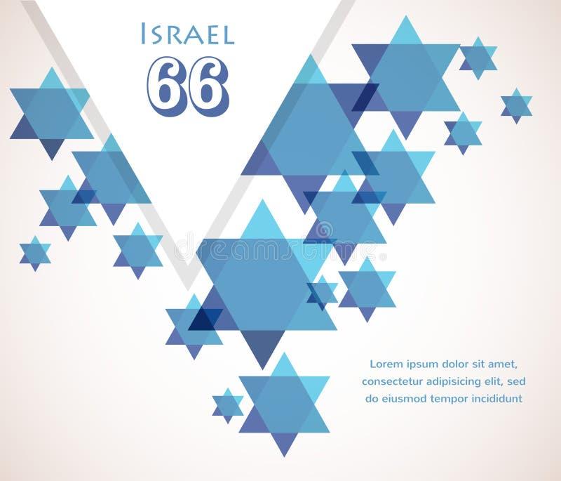 以色列的独立日。大卫星背景 库存例证
