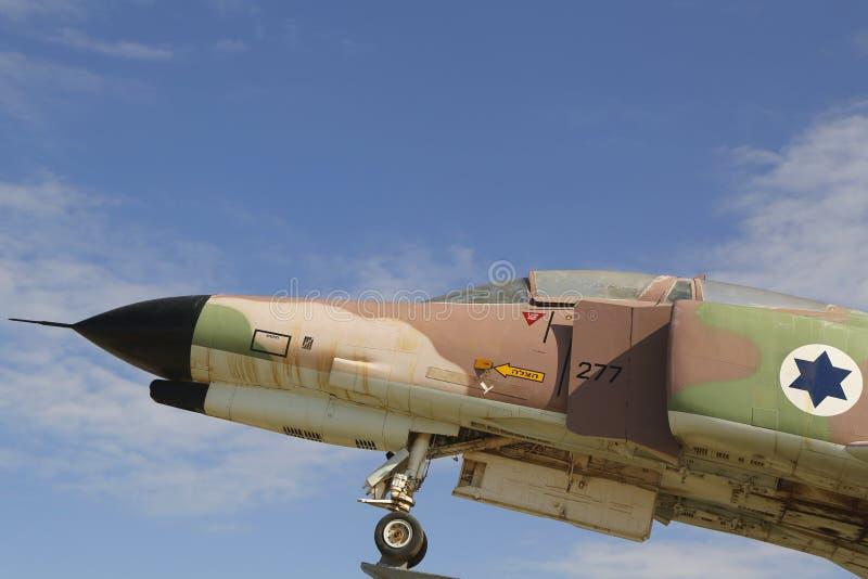 以色列空军队麦克当诺道格拉斯公司F-4E幽灵II喷气式歼击机细节 免版税图库摄影