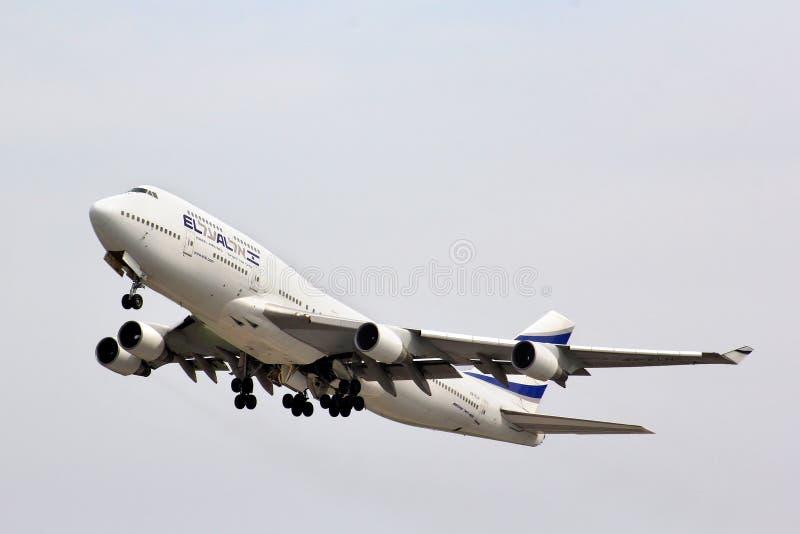 以色列航空公司波音747 库存图片