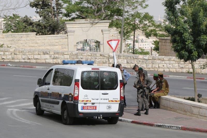 以色列警察提供安全在老城耶路撒冷 库存照片