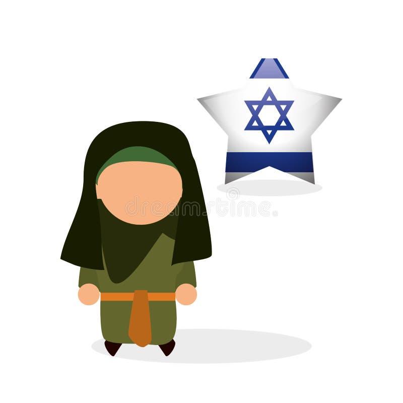 以色列设计 文化设计 例证 库存例证