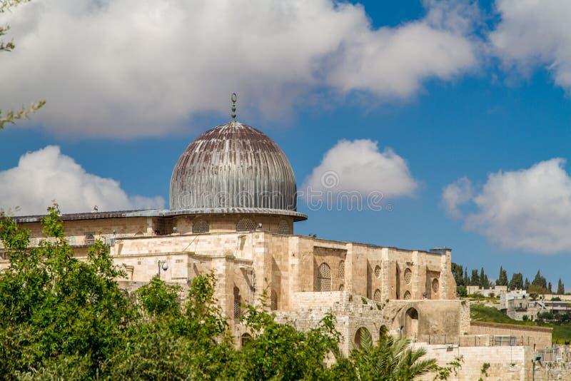 以色列,耶路撒冷阿克萨清真寺2015年4月4日 图库摄影