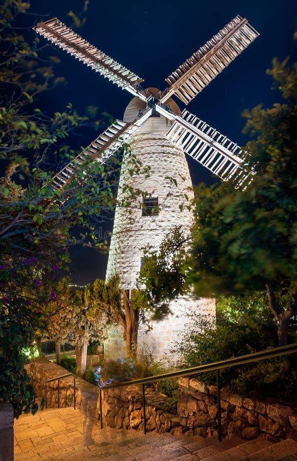 以色列,耶路撒冷, Montefiore风车 库存照片