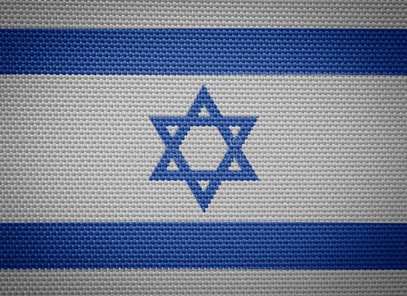 以色列织品旗子 库存例证