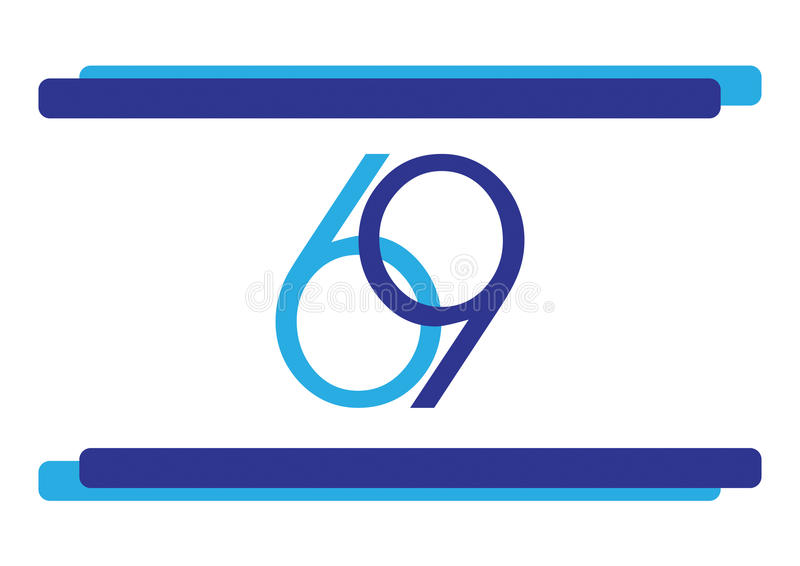 以色列69独立日旗子 库存例证