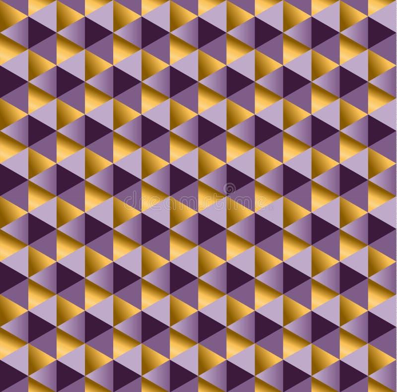 紫色别致的典雅的抽象反复性的主题 库存例证