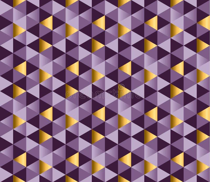 紫色别致的典雅的抽象反复性的主题 向量例证