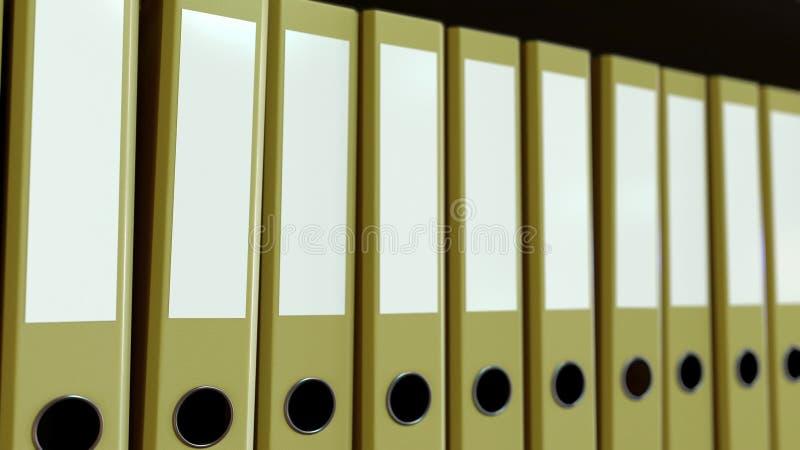 黄色办公室黏合剂 3d翻译 向量例证
