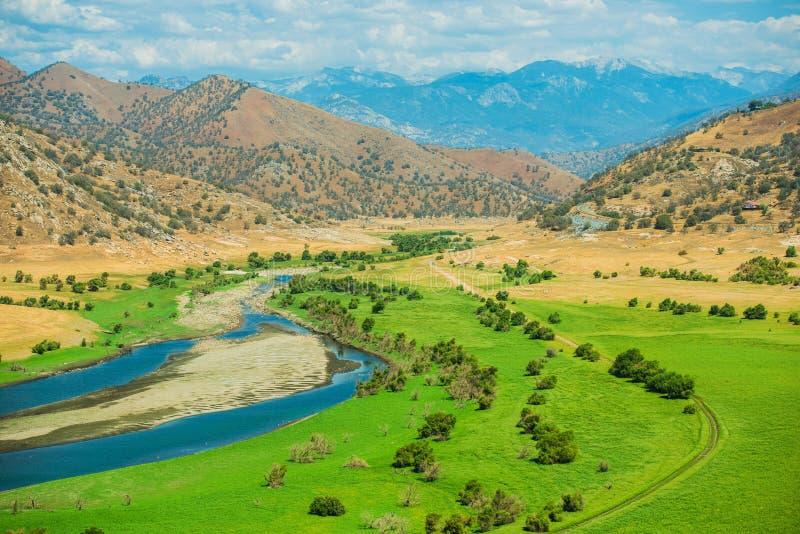 绿色加利福尼亚谷 免版税库存图片