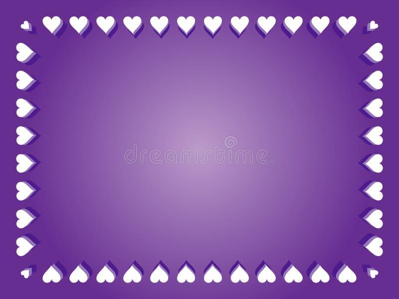 紫色华伦泰背景 向量例证