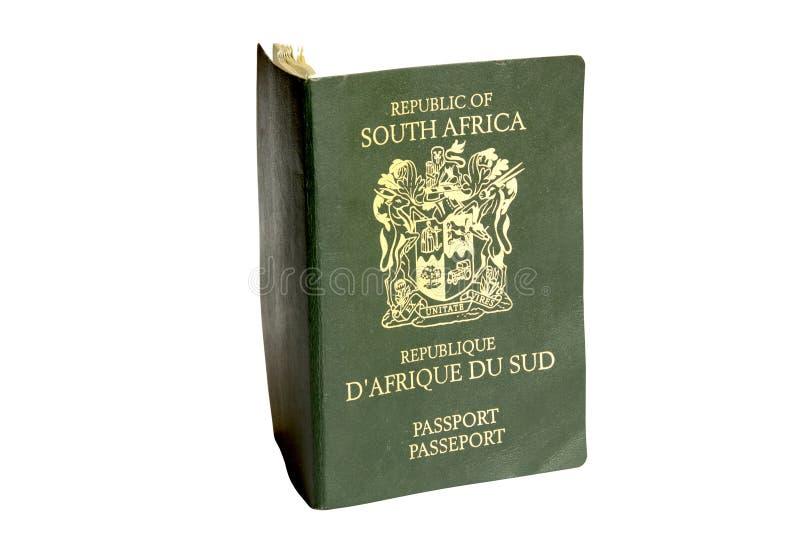 绿色南非护照的被隔绝的照片 图库摄影