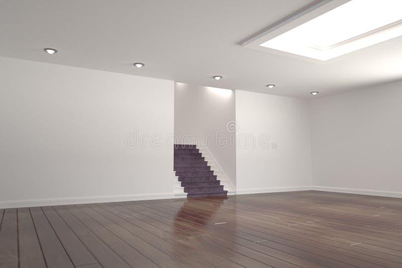 紫色台阶在一间明亮的屋子 向量例证