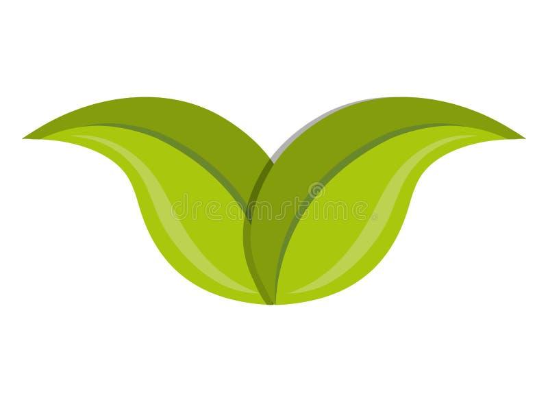 绿色叶子或叶子生态题材 库存例证