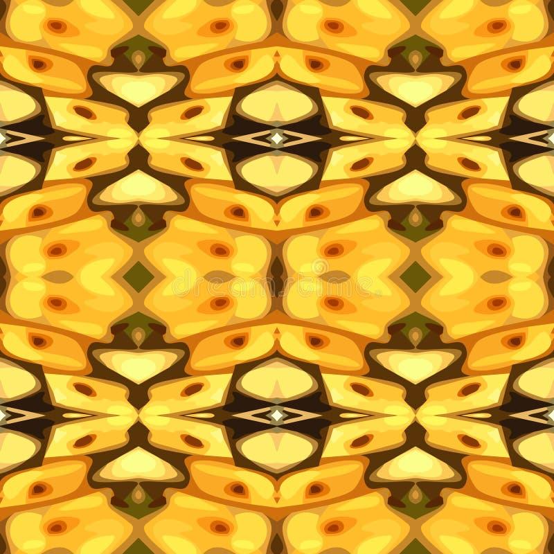 黄色呈杂色的背景的传染媒介例证 皇族释放例证