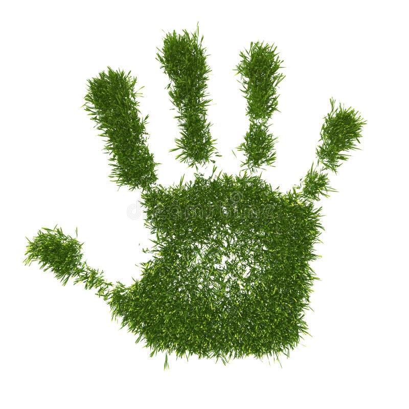 绿色和平手3D 免版税库存照片