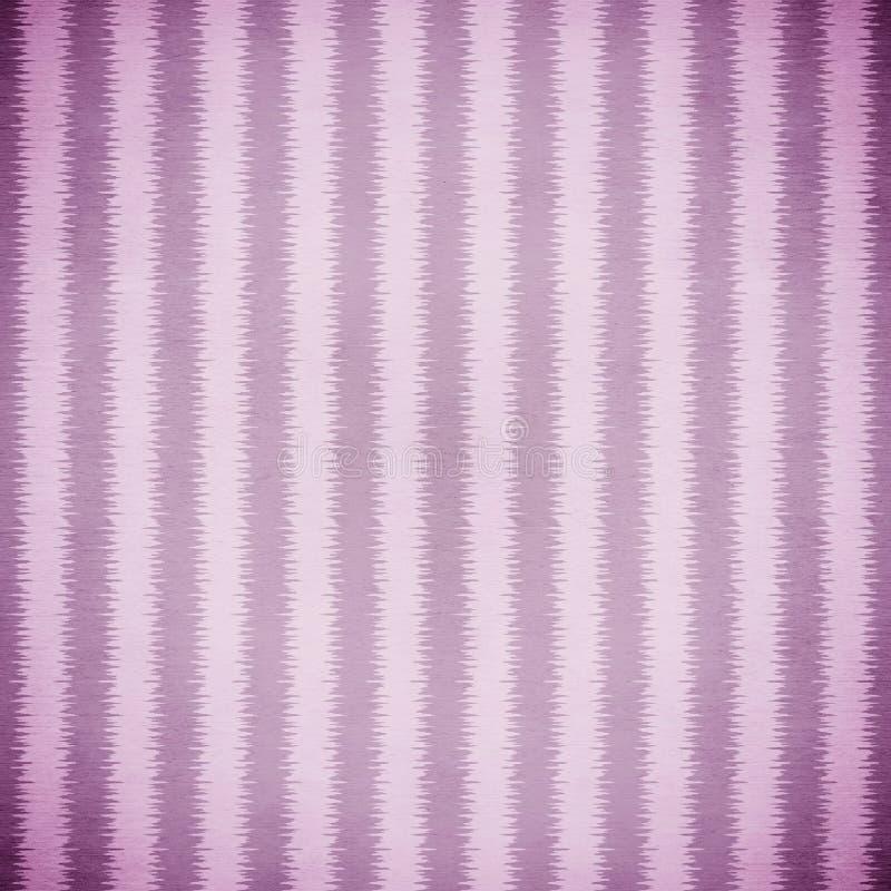 紫色和淡紫色Ikat条纹 向量例证