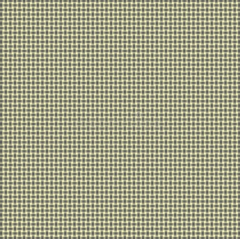 黄色和灰色被编织的背景 向量例证