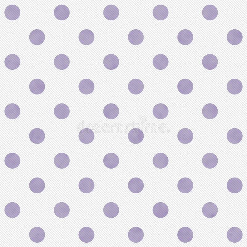 紫色和白色大圆点样式重复背景 免版税库存照片