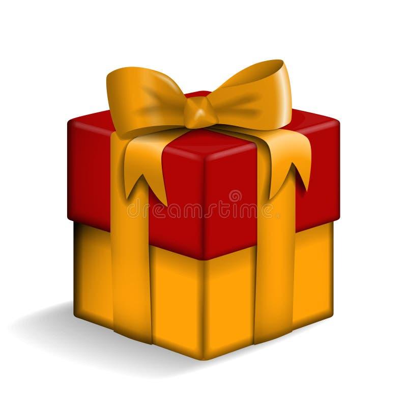 黄色和红色礼物盒 皇族释放例证