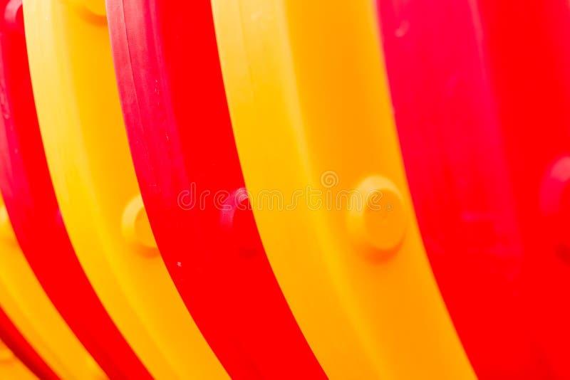 黄色和红色螺旋抽象/黄色和红色螺旋 免版税库存照片