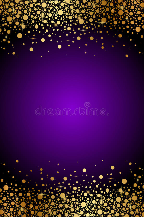 紫色和金豪华背景 向量例证