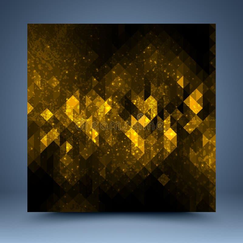 黄色和黑抽象模板 向量例证