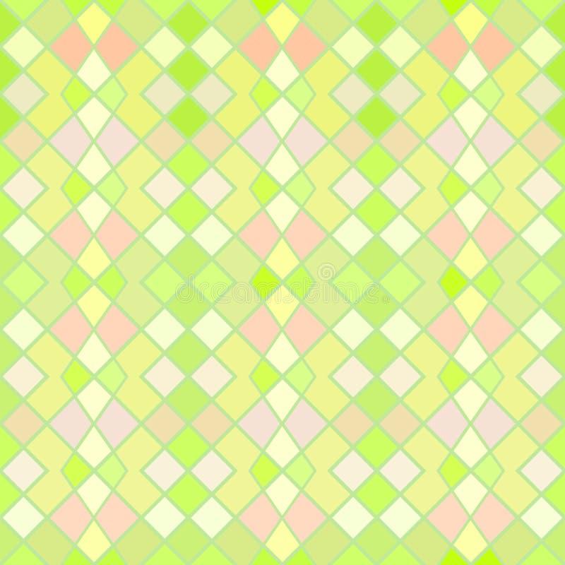 绿色和黄色无缝的样式 向量例证