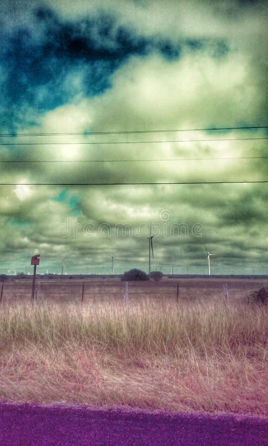 绿色和紫色颜色 图库摄影