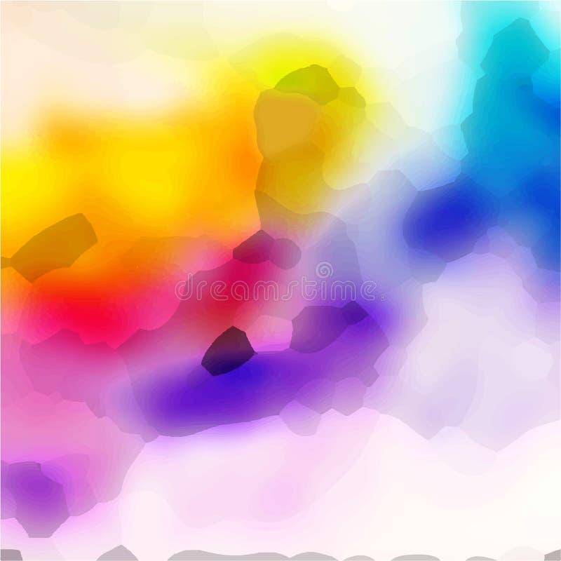黄色和紫色水彩背景 库存照片