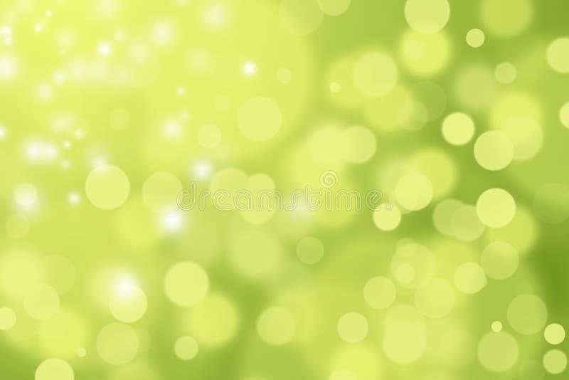 绿色和黄色DEFOCUSED BOKEH摘要背景 皇族释放例证