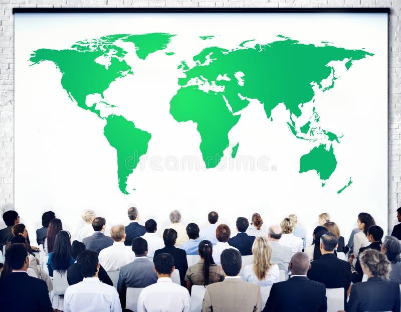 绿色商业环境全球性保护概念 向量例证