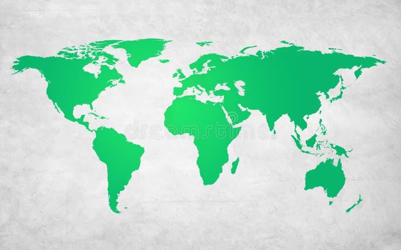 绿色商业环境全球性保护概念 库存例证