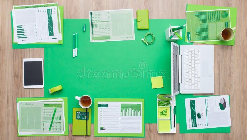 绿色商业 免版税库存图片