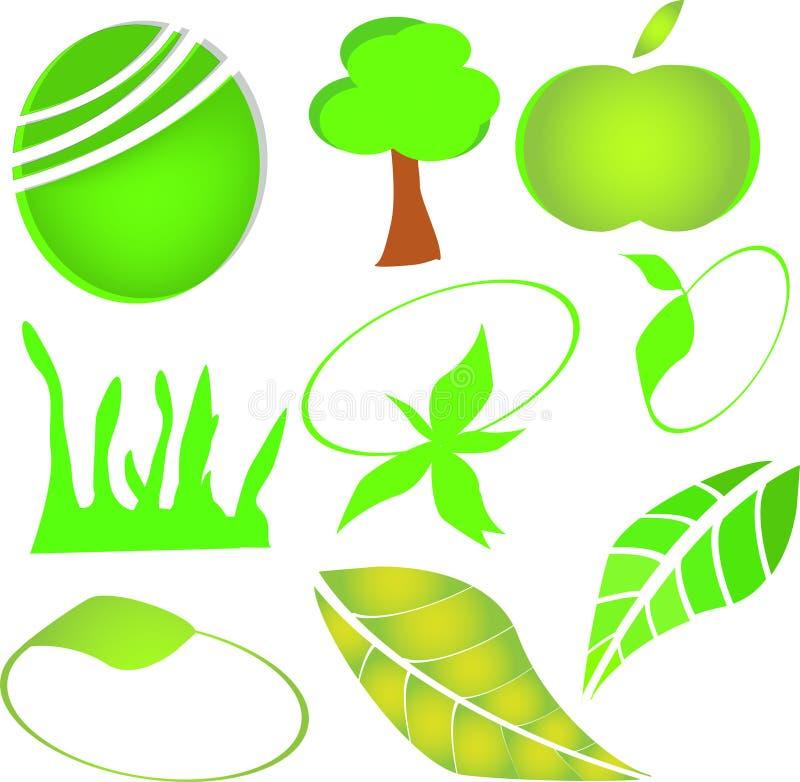 绿色商标 图库摄影